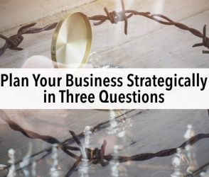 Plan Your Business Strategically in Three Questions